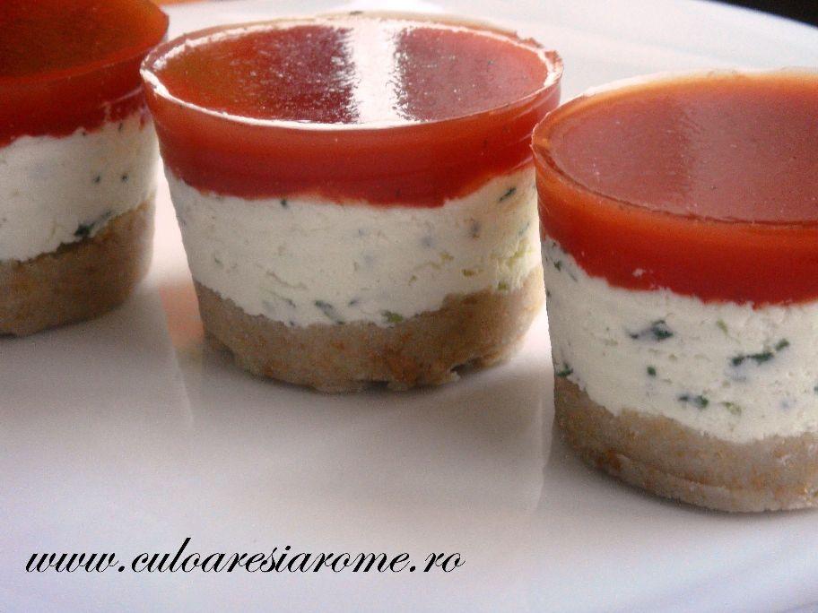 Cheesecake aperitiv cu branza