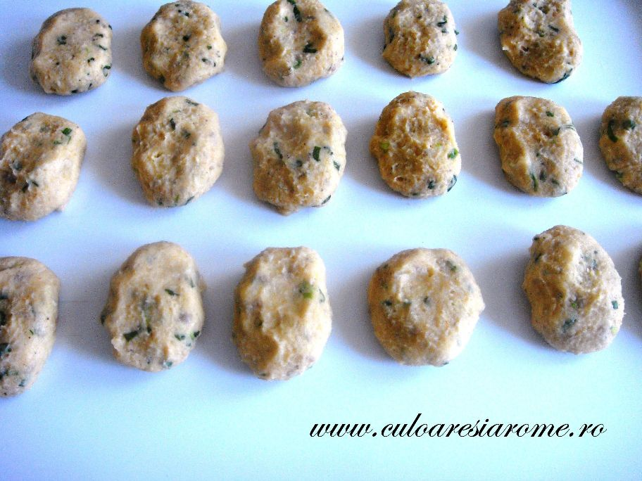 Chiftele din cartofi si ciuperci