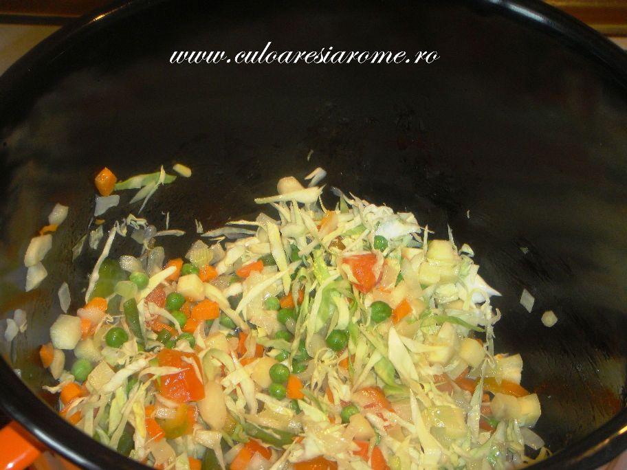 Ciorba de legume cu afumatura