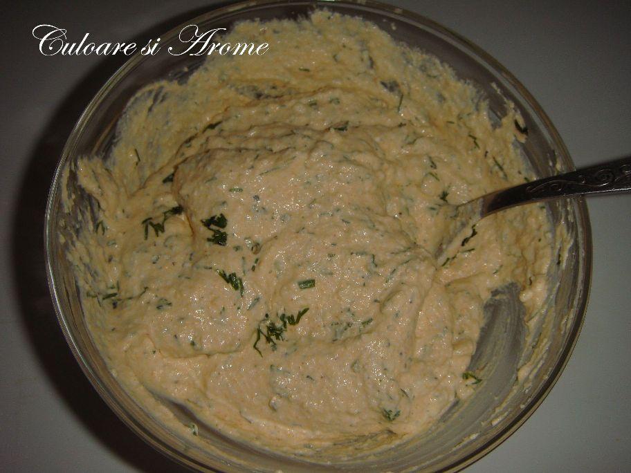 Ardei gras umplut cu crema de branza