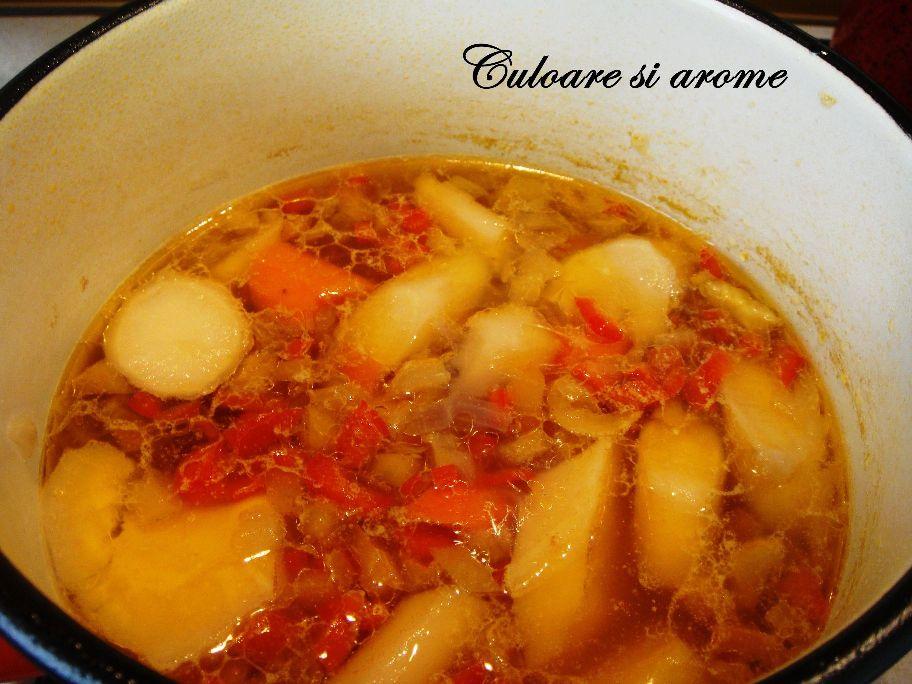 Supa crema de legume cu leurda