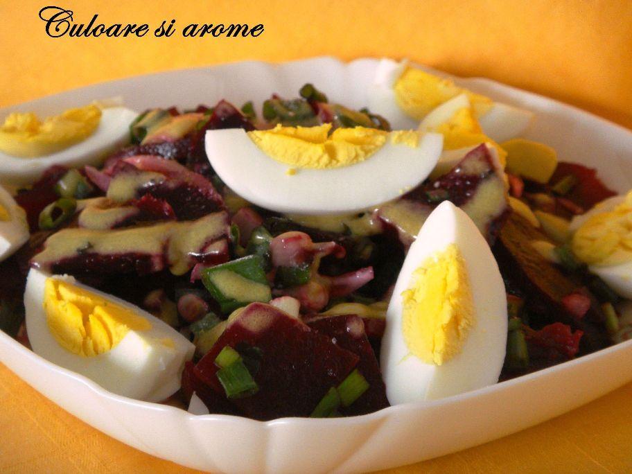 Salata de sfecla rosie cu ceapa