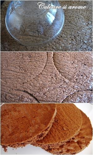 Tort cu crema de ciocolata si capsuni