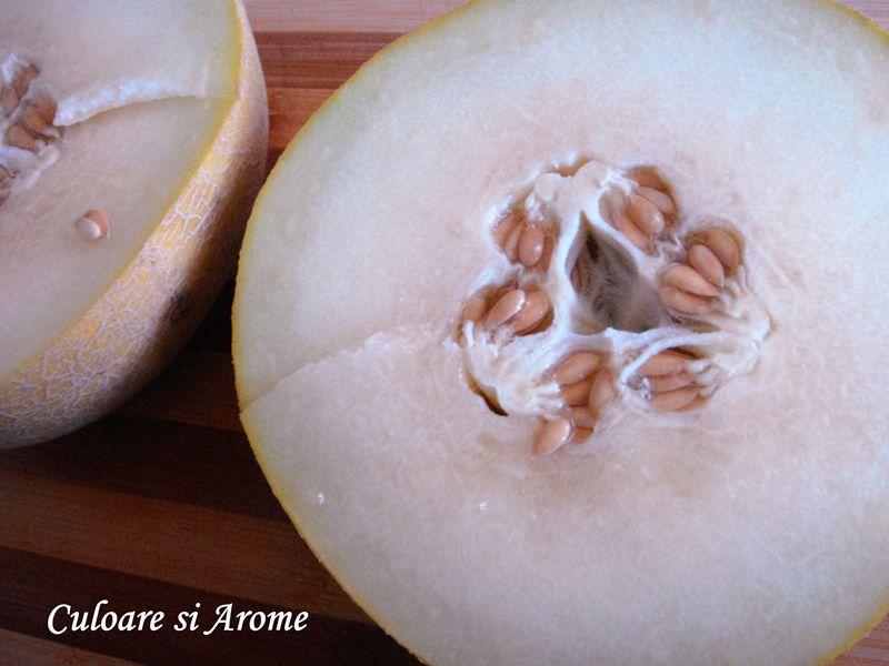 Dulceata de pepene galben cu portocale